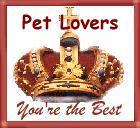 Pet Lovers Your The Best Award